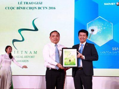 Giải đặc biệt Báo cáo thường niên 2016 thuộc về Bảo Việt